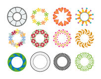 Designs. This circular designs created in computer software Stock Image