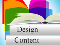 Designs Content Represents Concept Model And Plan Stock Images