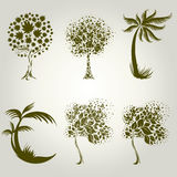 Designs with decorative tree from leafs Stock Image