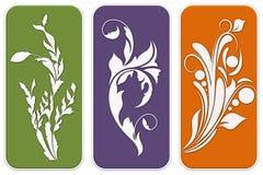 Designs florais Foto de Stock