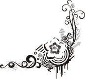 Designs florais pretos & brancos imagens de stock