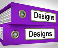 Designs Folders Mean Style Of Product. Designs Folders Meaning Style Of Product Or Publication Royalty Free Stock Images