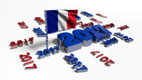 2017 designs with French flag in the wind Royalty Free Stock Image