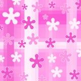 Designs on pink. Checks Royalty Free Stock Image