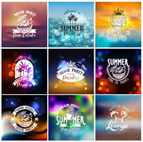 Designs for summer beach party Stock Images