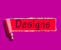 Designs Word Means Web Designing And Planning Stock Photos
