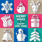 Designs for Xmas and New Year Royalty Free Stock Images