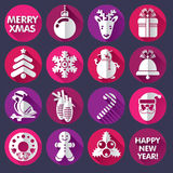 Designs for Xmas and New Year Royalty Free Stock Photo