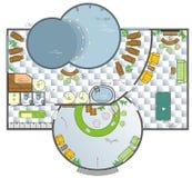designsalongbrunnsort Arkivbild