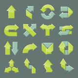 Designsatz des modernen Pfeiles lizenzfreie abbildung