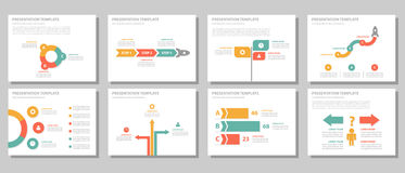 Designsatz des vielseitigen infographic Elements des Geschäftsmannes flacher Lizenzfreie Stockbilder