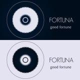 Designschablonen in den blauen und grauen Farben Kreatives Mandalalogo, Ikone, Emblem, Symbol Stockfoto