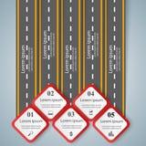 Designschablonen- und -marketing-Ikonen der Straße infographic Lizenzfreies Stockbild