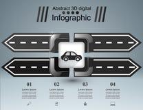 Designschablonen- und -marketing-Ikonen der Straße infographic Vektorabbildung EPS10 Stockfotos
