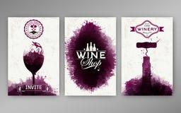 Designschablonenhintergrund-Weinflecke Stock Abbildung