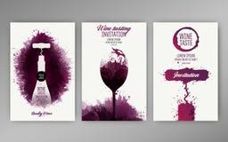 Designschablonenhintergrund-Weinflecke Lizenzfreie Abbildung