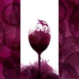 Designschablonenhintergrund-Weinflecke Illustrationsglas von w Lizenzfreie Abbildung