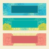Designschablonensatz horizontale Fahnen mit Lizenzfreie Stockbilder