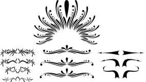 designscroll Royaltyfri Bild