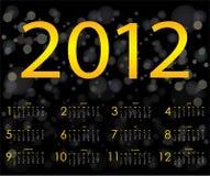 designspecial för 2012 kalender Arkivfoto