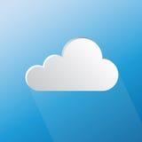 Designsprache-Wolkenform auf blauem Hintergrund Stockbilder