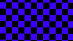 Designsvart och blått rutigt rotera vektor illustrationer