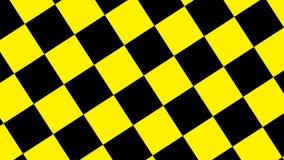 Designsvart och gult rutigt rotera royaltyfri illustrationer