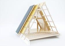 Designteckning av ett tak med tekniska detaljer - tolkning 3D Arkivbilder