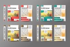 Designuppsättning för reklamblad A4 Arkivfoto