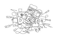 Designuttryck Dragen illustration för vektor som hand isoleras på vit royaltyfri illustrationer