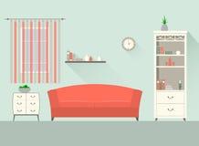 Designvardagsrum 1 Arkivbild