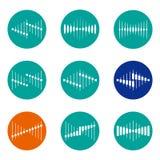 Designvektorwellen-Logoschablone Lizenzfreie Stockfotografie