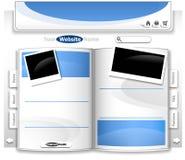 designwebsite Royaltyfria Foton