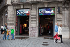 Desigual shop in Barcelona, Spain Stock Photos