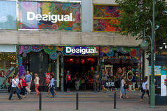 Desigual shop on Kurfuerstendamm. BERLIN - JULY 24: Desigual shop on Kurfuerstendamm. Desigual is a casual clothing brand, which is noted for its patchwork Stock Images