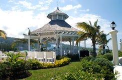 Desination Wedding gazebo 2. Gazebo in Jamaica tropical resort destination wedding setup Stock Image