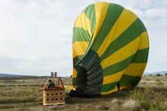 Desinfla1ão do balão de ar quente Fotografia de Stock Royalty Free