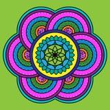 desing的Rangoli 印第安装饰品 免版税库存图片