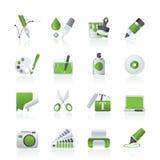 desing графическая сеть икон иллюстрация штока
