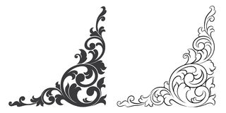 Desing element. Isolated vector scroll floral design element Stock Photography