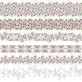 Desing element. Retro style ornament design element vector horizontal border Royalty Free Stock Photos