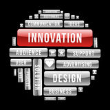 Desing innovation concept circle Stock Photo