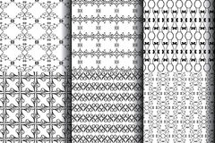 6 desing vintage seamless pattern Royalty Free Stock Photos
