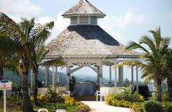 Desintation Wedding gazebo. Gazebo in Jamaica tropical resort destination wedding setup Royalty Free Stock Photography