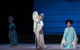 """Desintegração do ato da desculpa- sétima do ajoelhamento do  branco de Opera""""Madame Snake†das famílias-Kunqu imagens de stock"""