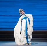 """Desintegração excessiva do ato do sofrimento- sétimo do  branco de Opera""""Madame Snake†das famílias-Kunqu fotos de stock"""