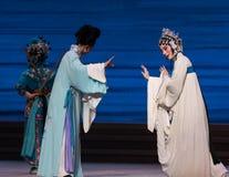 """Desintegração marital do ato da afeição- sétima do  branco de Opera""""Madame Snake†das famílias-Kunqu foto de stock royalty free"""