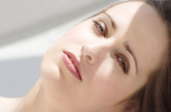 Desire. Face of a beautiful woman Royalty Free Stock Photo