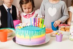 Desire on birthday Royalty Free Stock Image