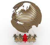 Desire of cooperation. 3d illustration Stock Images